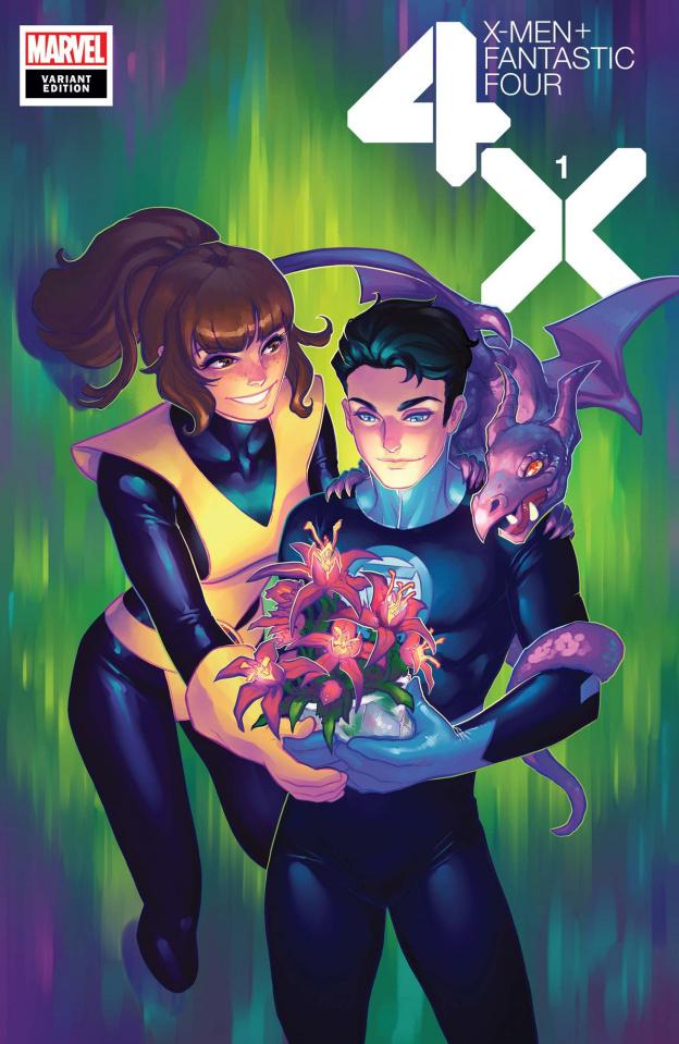 X-Men + Fantastic Four #1 (Hetrick Flower Cover)