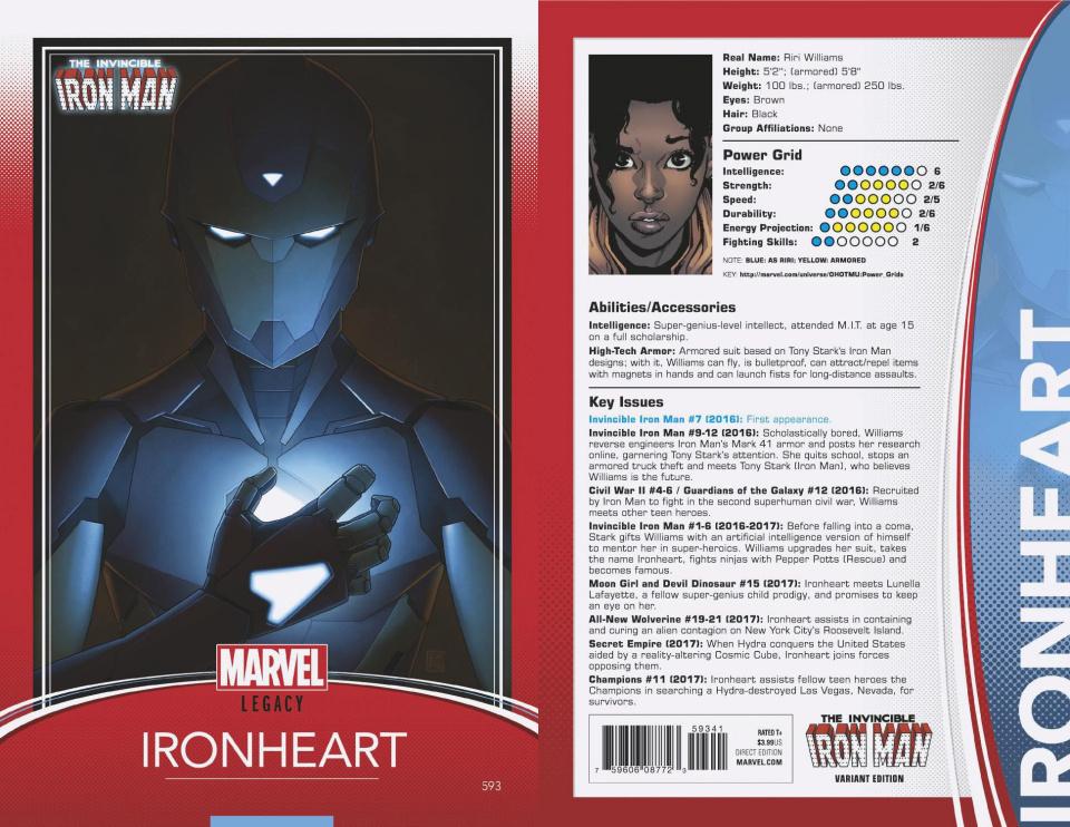 Invincible Iron Man #593 (Trading Card Cover)
