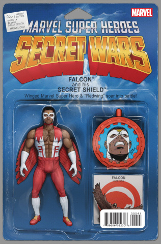 Secret Wars #5 (Christopher Action Figure Cover)