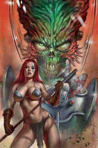 Mars Attacks / Red Sonja #1 (Parrillo Virgin Cover)
