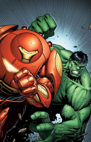 Indestructible Hulk #6 (Iron Man Variant Cover)