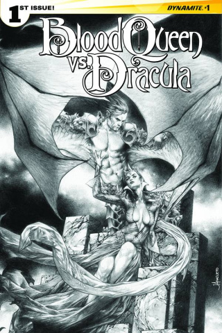 Blood Queen vs. Dracula #1 (10 Copy Anacleto B&W Cover)