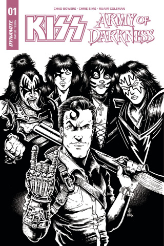KISS / Army of Darkness #1 (30 Copy Haeser B&W Cover)