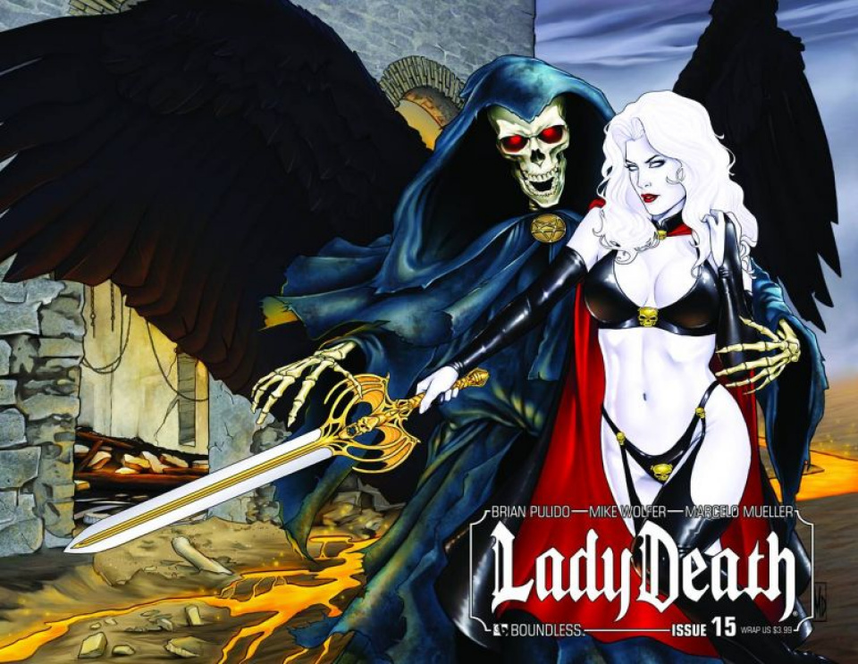 Lady Death #15 (Wrap Cover)