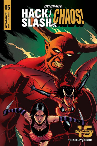 Hack/Slash vs. Chaos! #5 (Cermak Cover)