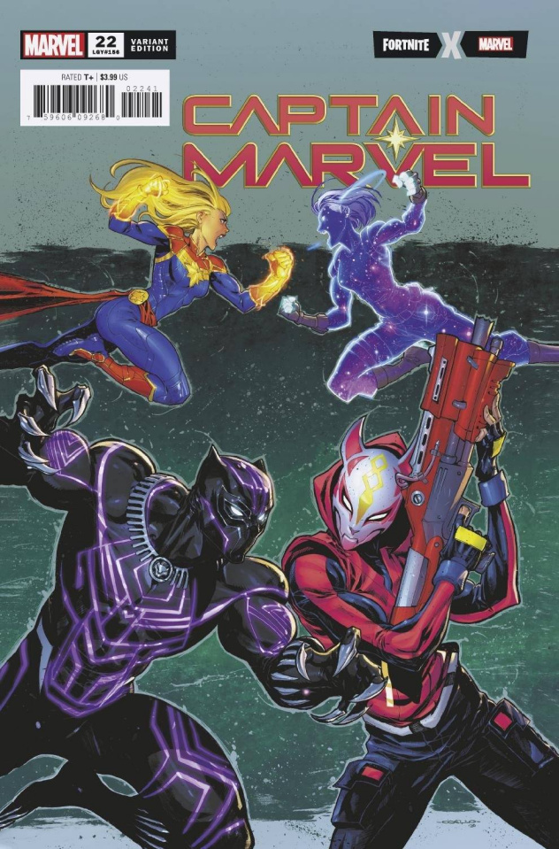 Captain Marvel #22 (Coello Fortnite Cover)