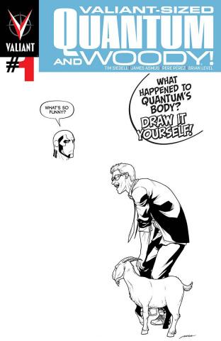 Valiant-Sized Quantum & Woody #1 (Blank Perez Cover)