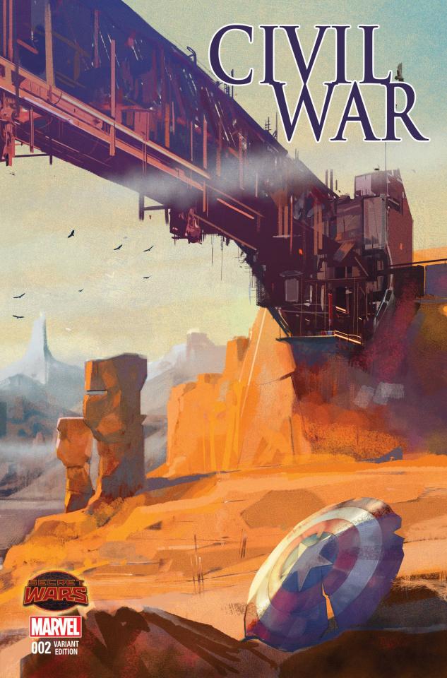 Civil War #2 (Maleev Landscape Wraparound Cover)