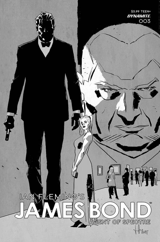 James Bond: Agent of SPECTRE #3 (11 Copy Casalanguida B&W Cover)