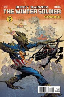 Bucky Barnes: The Winter Soldier #2 (Rocket Raccoon & Groot Cover)