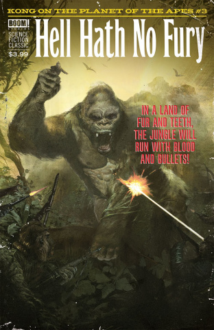 Kong on the Planet of the Apes #3 (Subscription Dalton Cover)