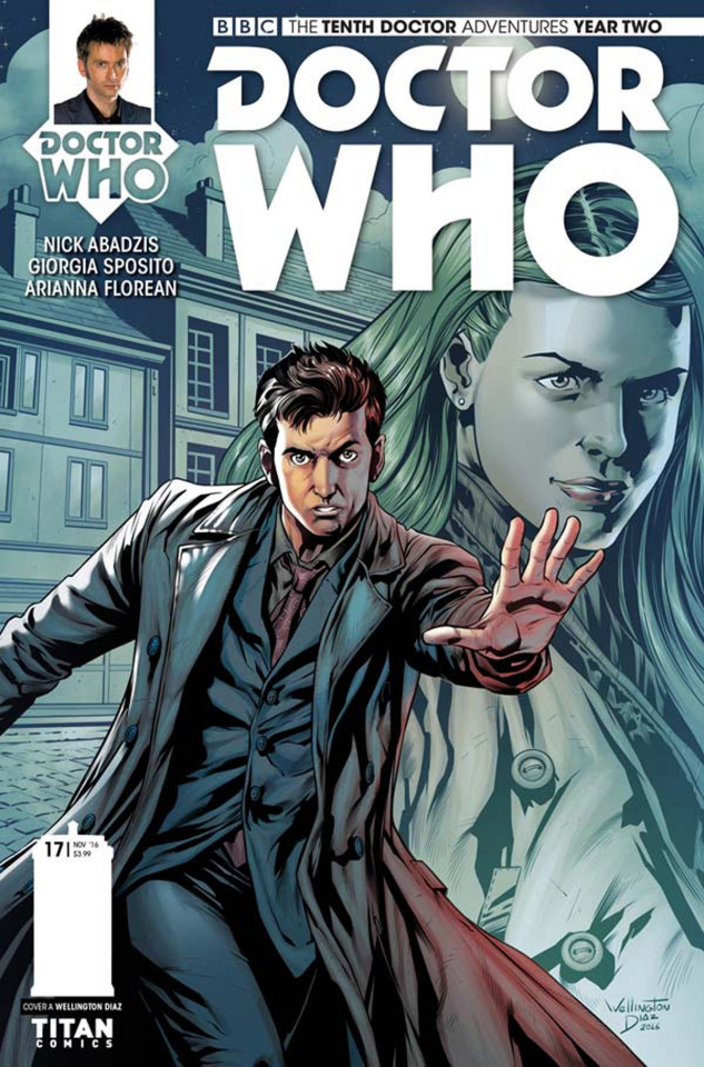 Doctor Who: New Adventures with the Tenth Doctor, Year Two #17 (Diaz Cover)