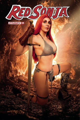 Red Sonja #21 (Amazon Steph Cosplay Cover)