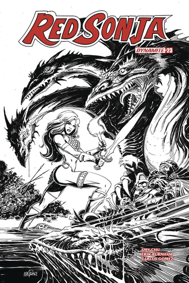 Red Sonja #23 (30 Copy Mandrake B&W Cover)