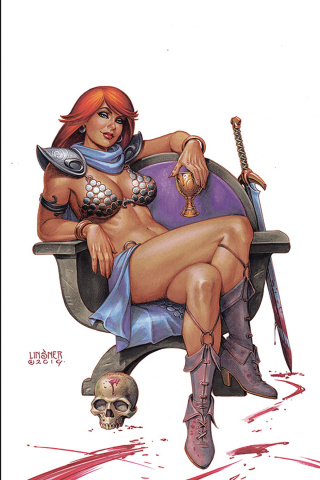 Red Sonja #5 (Linsner Virgin Cover)