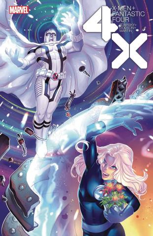 X-Men + Fantastic Four #4 (Hetrick Flower Cover)
