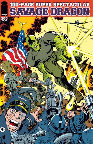 Savage Dragon #200 (Kirby & Larsen Cover)
