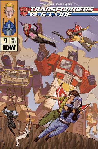 Transformers vs. G.I. Joe #7 (Subscription Cover)