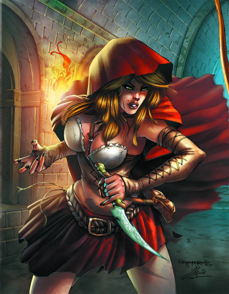 Grimm Fairy Tales: Robyn Hood vs. Red Riding Hood #1 (Cafaro Cover)