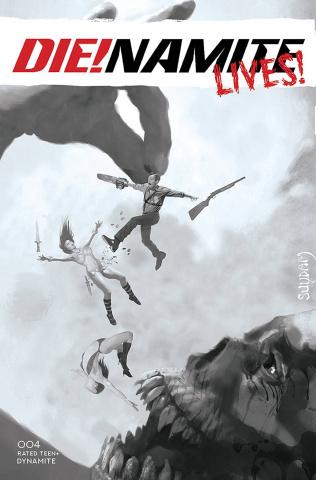 DIE!namite Lives! #4 (10 Copy Suydam B&W Cover)