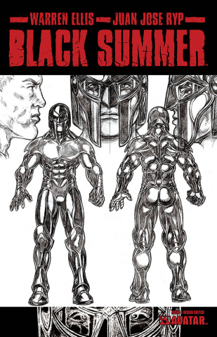 Black Summer #4 (Design Sketch Cover)