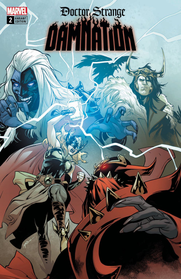 Doctor Strange: Damnation #2 (Mighty Thor Cover)