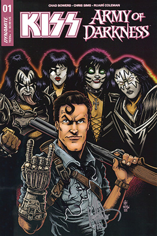 KISS / Army of Darkness #1 (Ken Haeser Ash Cover)