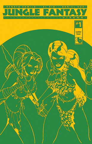 Jungle Fantasy: Vixens #1 (Jungle Green Leather Cover)