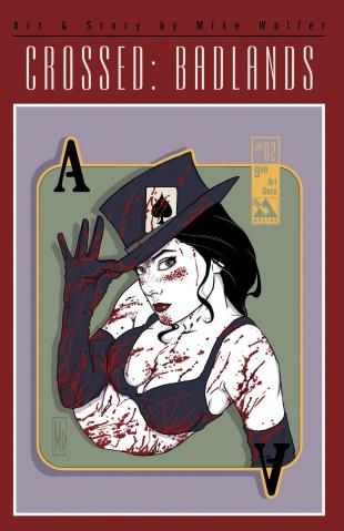 Crossed: Badlands #82 (Art Deco Cover)