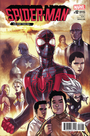 Spider-Man #12 (Marquez Story Thus Far Cover)