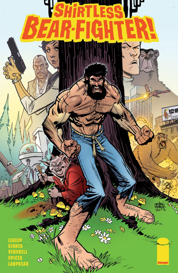 Shirtless Bear-Fighter! #1 (Robinson Cover)