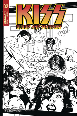 KISS: Blood and Stardust #2 (30 Copy Sanapo B&W Cover)