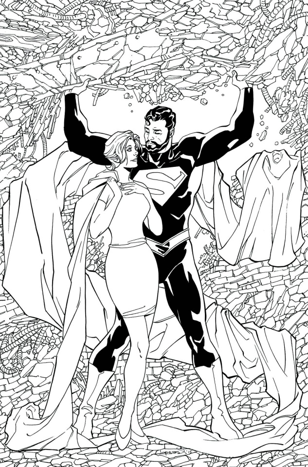 Superman: Lois and Clark #4 (Adult Coloring Book Cover)