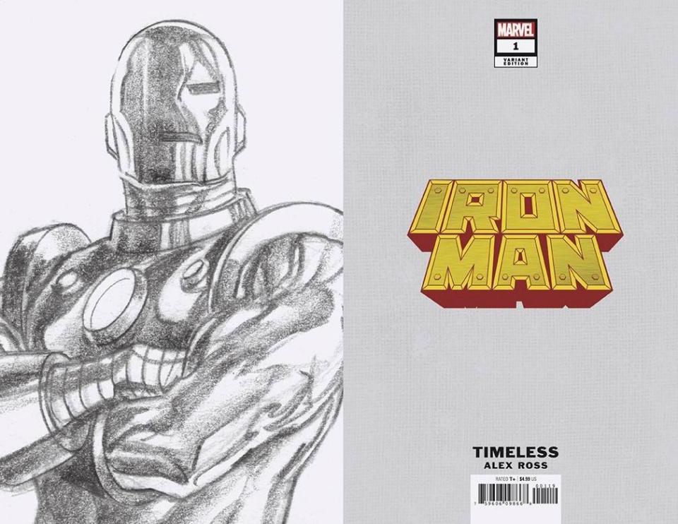 Iron Man #1 (Alex Ross Iron Man Timeless Virgin Sketch Cover)