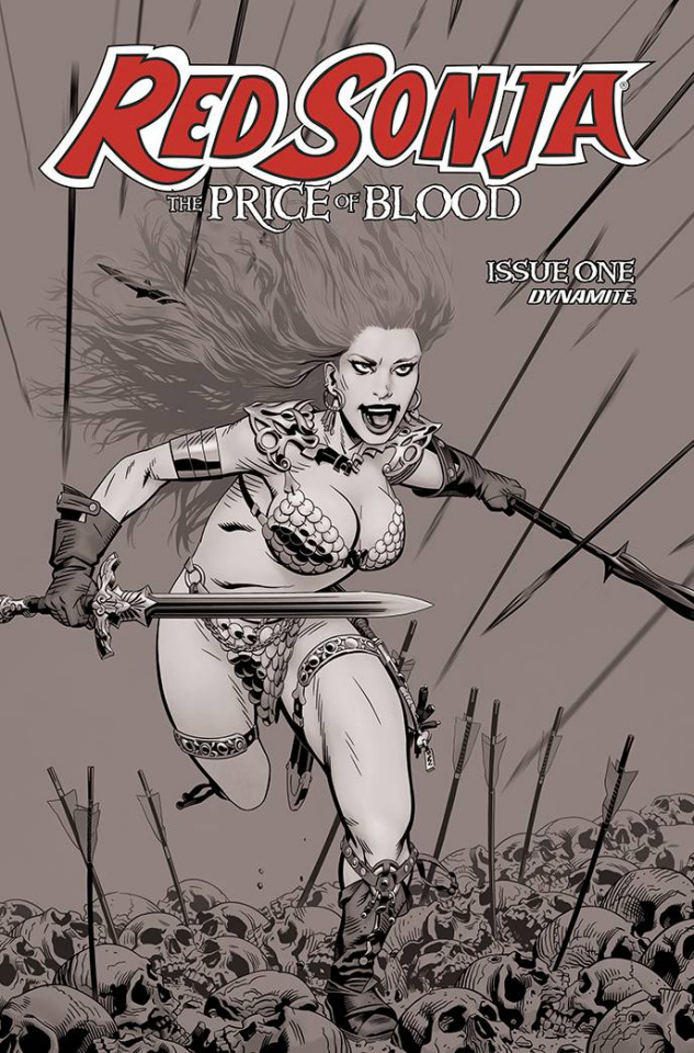 Red Sonja: The Price of Blood #1 (10 Copy Golden B&W Cover)