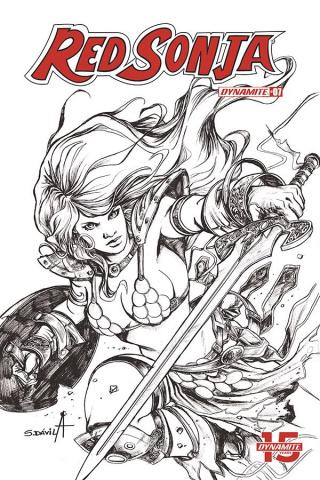 Red Sonja: Birth of the She-Devil #3 (20 Copy Davila B&W Cover)