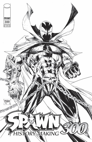 Spawn #300 (B&W McFarlane Cover)