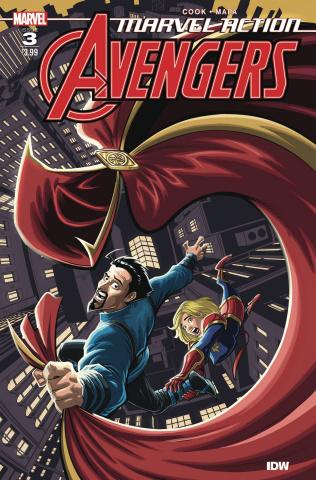 Marvel Action: Avengers #3 (Mapa Cover)
