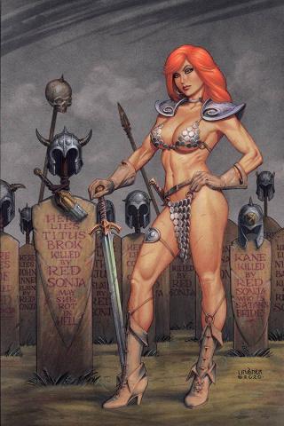 Red Sonja #16 (Linsner Virgin Cover)