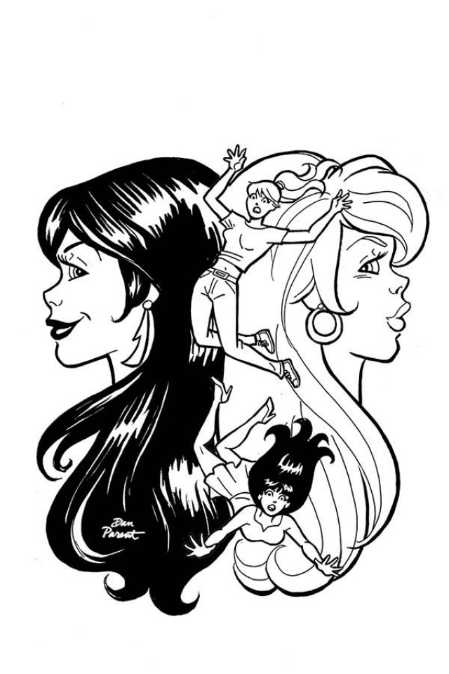 Red Sonja and Vampirella Meet Betty and Veronica #10 (11 Copy Parent B&W Cover)
