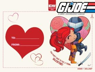 G.I. Joe: A Real American Hero #225 (Valentine's Day Card Cover)