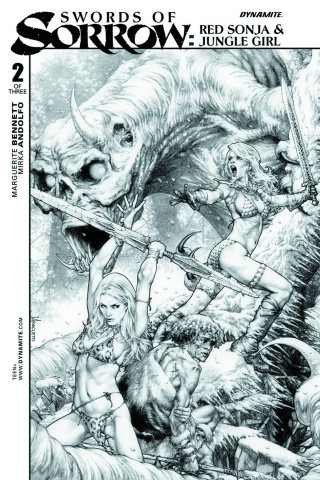 Swords of Sorrow: Red Sonja & Jungle Girl #2 (10 Copy Cover)
