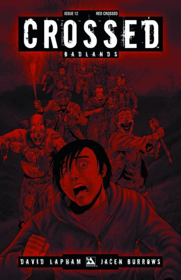 Crossed: Badlands #12 (Red Crossed Cover)