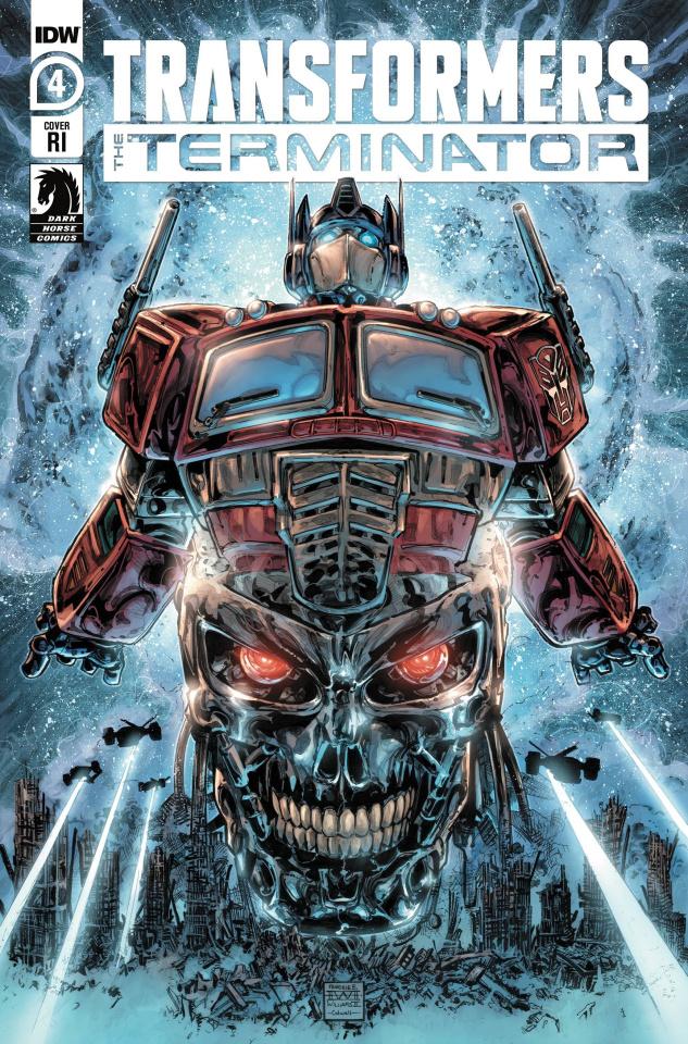 The Transformers vs. The Terminator #4 (10 Copy Williams II Cover)