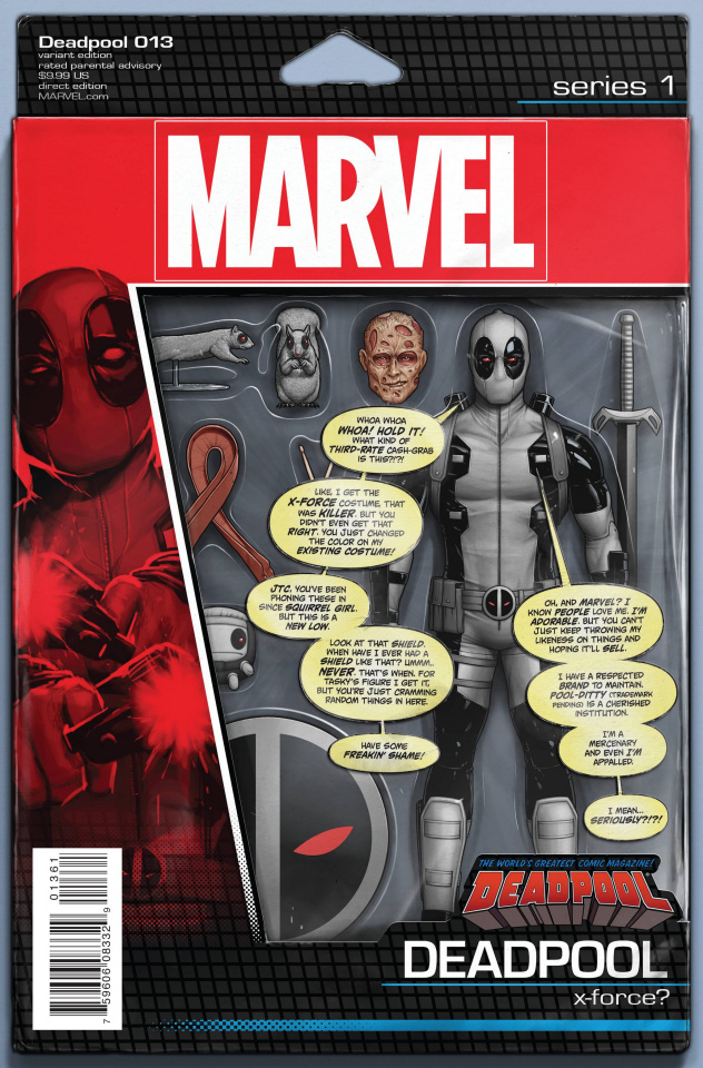 Deadpool #13 (Christopher Action Figure Cover)