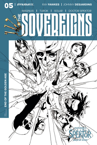 The Sovereigns #5 (10 Copy Segovia B&W Cover)