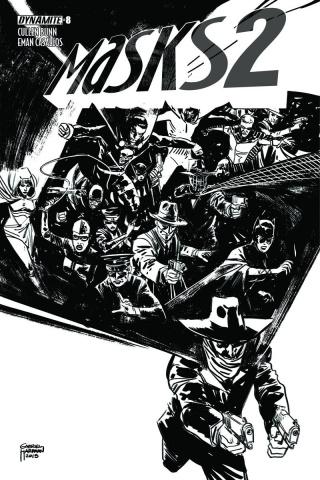 Masks 2 #8 (30 Copy Hardman B&W Cover)