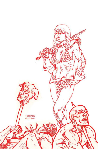 Red Sonja #23 (30 Copy Linsner Tint Virgin Cover)