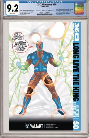 X-O Manowar #50 (CGC Replica Perez Cover)