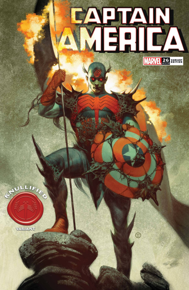Captain America #26 (Tedesco Knullified Cover)
